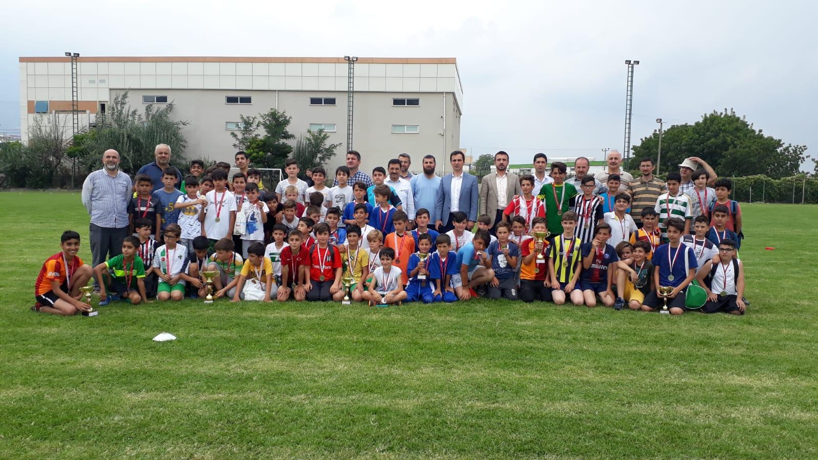Yaz  Kur'an kursları futbol turnuvası sona erdi