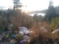 Kestel Gölbaşında moloz ve çöp yığını