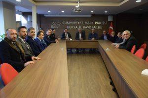 Bursaspor yönetiminden CHP il başkanlığına ziyaret