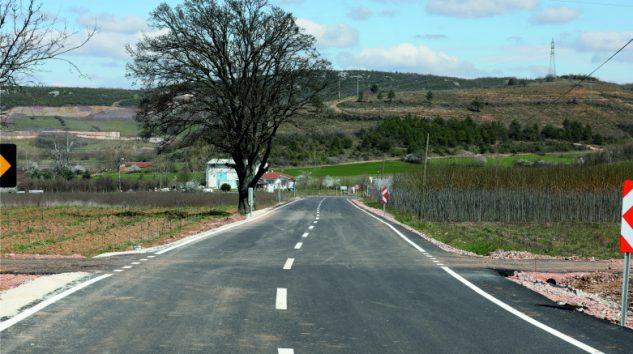 Alaçam yolu asfaltlandı