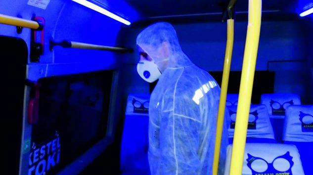 Kestel Minübüsleri dezenfekte edildi