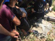 Narlıdere Şelalesinde Ayağı kaydı bacağı kırıldı