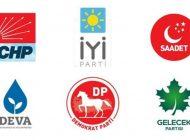 CHP, İYİP, SP, DP, Gelecek ve Deva Partisi uzlaştı